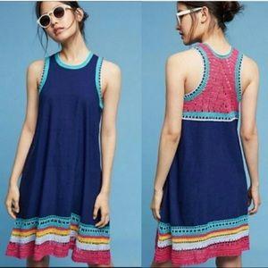 Anthropology Akemi + Kin Crochet Trim Swing Dress